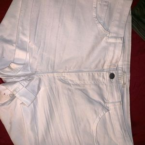 H&M White Jean Shorts